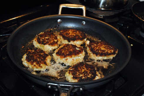 Crab Cakes Cooking